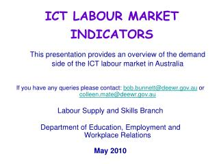 ICT LABOUR MARKET INDICATORS