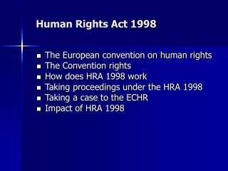 Human Rights Act 1998