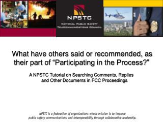 """What have others said or recommended, as their part of """"Participating in the Process?"""""""