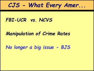 CJS - What Every Amer...