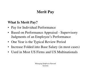 Merit Pay
