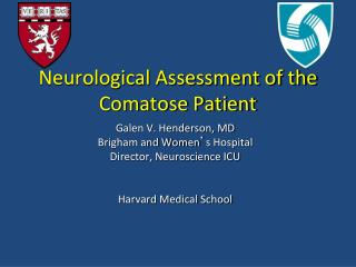 Neurological Assessment of the Comatose Patient