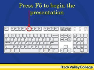 Press F5 to begin the presentation