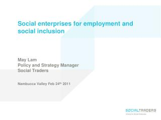 Employment purpose social enterprises