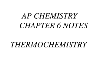 Chemistry Chapter 6