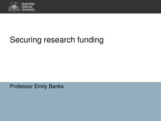 Securing research funding