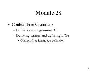 Module 28