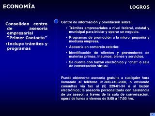 Centro de información y orientación sobre: