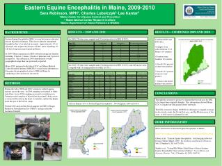 Eastern Equine Encephalitis in Maine, 2009-2010