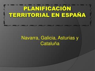 Planificación territorial en España