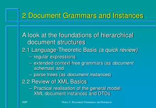 2 Document Grammars and Instances
