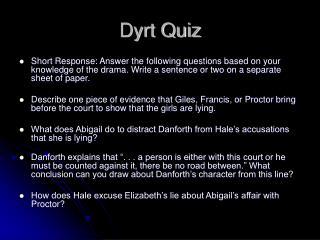Dyrt Quiz