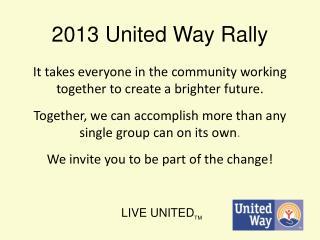 2013 United Way Rally