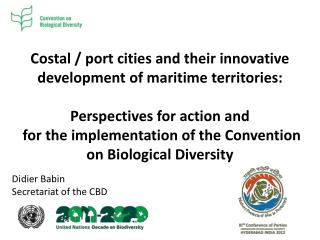 Costal / port cities and their innovative development of maritime territories: