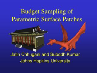 Budget Sampling of Parametric Surface Patches