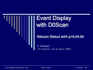 Event Display with D0Scan