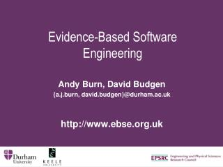 Evidence-Based Software Engineering