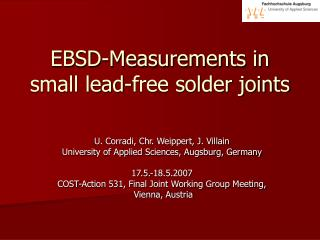 EBSD-Measurements in small lead-free solder joints