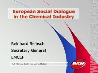 European Social Dialogue in the Chemical Industry