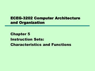 ECEG-3202 Computer Architecture and Organization