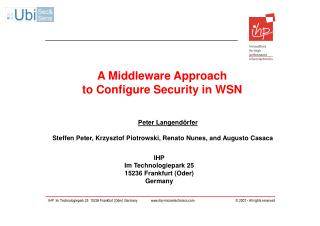 A Middleware Approach to Configure Security in WSN