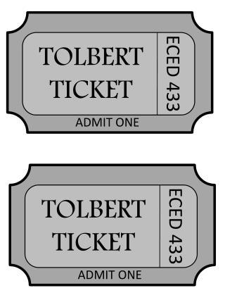 TOLBERT TICKET
