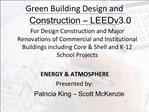 Green Building Design and Construction   LEEDv3.0
