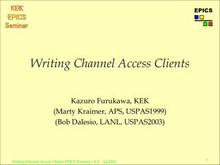 Writing Channel Access Clients