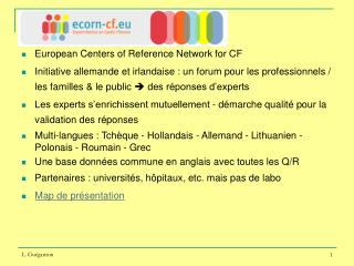 European Centers of Reference Network for CF