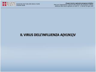 IL VIRUS DELL'INFLUENZA A(H1N1)V