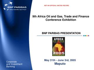 9th Africa Oil and Gas, Trade and Finance Conference Exhibition