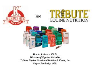 Daniel J. Burke, Ph.D. Director of Equine Nutrition Tribute Equine Nutrition/ Kalmbach  Feeds, Inc