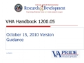 VHA Handbook 1200.05