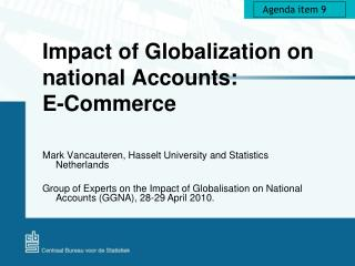 Impact of Globalization on national Accounts: E-Commerce
