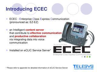 Introducing ECEC