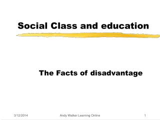 Social Class and education
