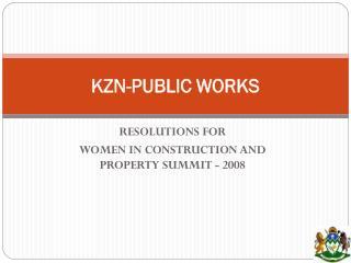 KZN-PUBLIC WORKS