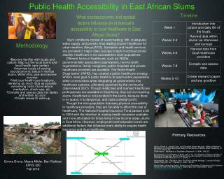 Public Health Accessibility in East African Slums
