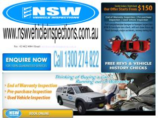 Fax : 02 9822 8004 | Email:  info@nswvehicleinspections.au