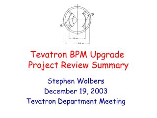 Tevatron BPM Upgrade  Project Review Summary
