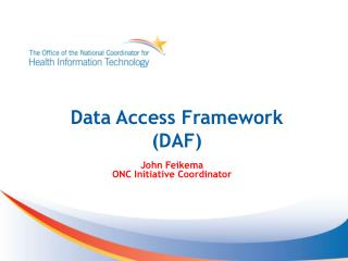 Data Access Framework  (DAF)