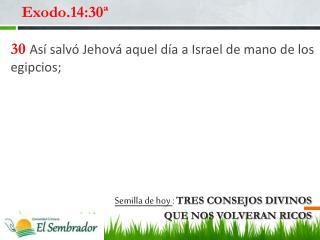 Exodo.14:30ª