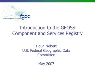 Introduction to the GEOSS Component and Services Registry
