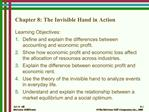 Chapter 8: The Invisible Hand in Action