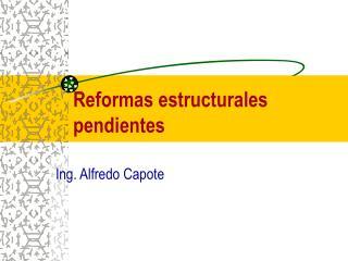 Reformas estructurales pendientes