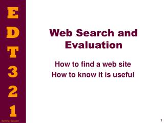 Web Search and Evaluation
