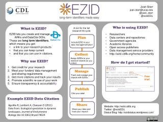 Who is using  EZID?