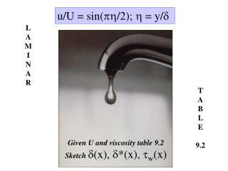 u/U = sin( /2);  = y/