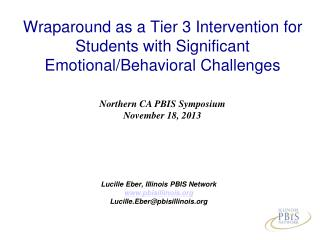 Wraparound as a Tier 3 Intervention for Students with Significant Emotional/Behavioral Challenges