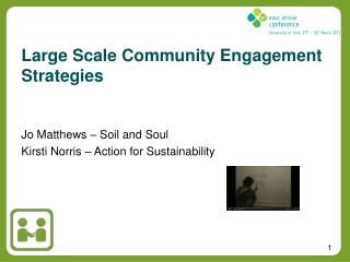 Large Scale Community Engagement Strategies